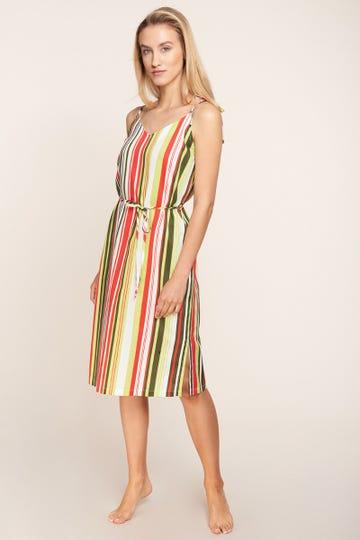 Freizeitkleid im sommerlichen Streifenprint gestreift 100% Baumwolle 1215517