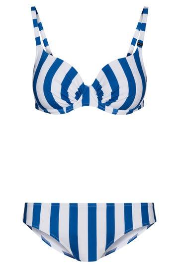Bikini im maritimen Ringeldruck Streifen Spacer-Cups Lycra 1215528