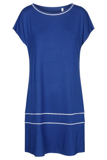 Freizeitkleid kurzarm mit eleganten Paspeldetails Strandkleid Viskose/Elasthan 1215539c1000448