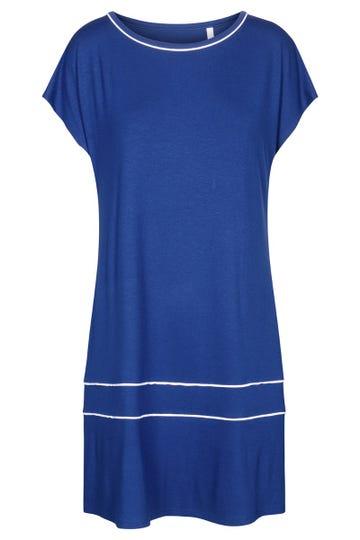 Freizeitkleid kurzarm mit eleganten Paspeldetails Strandkleid Viskose/Elasthan 1215539c1000442