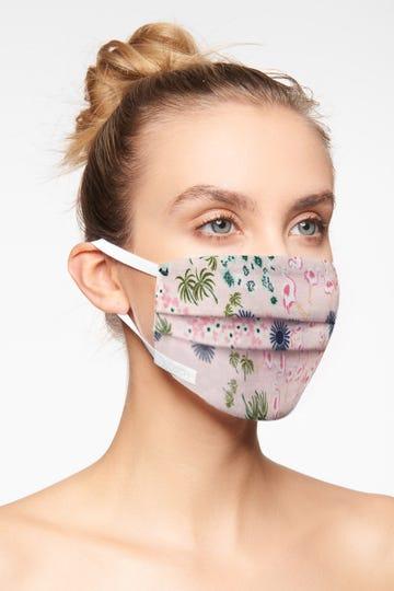 2er Pack dreilagige Mund- und Nasenmaske aus Baumwolle Gr. S