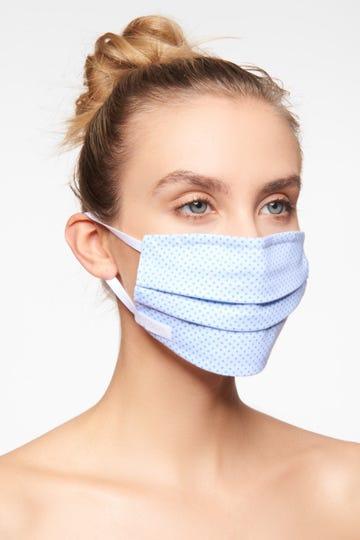 1 wiederverwendbare dreilagige Mund- und Nasenmaske für Schüler, Größe M