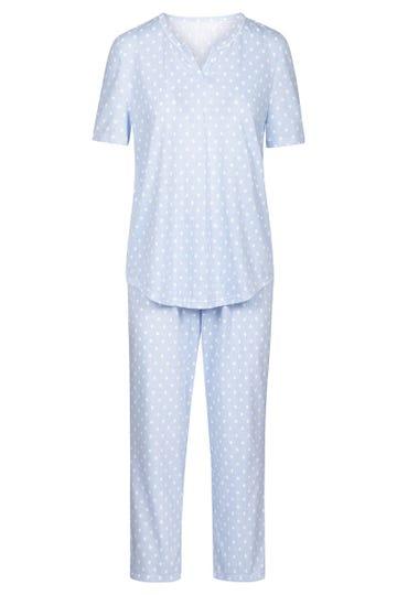 Pyjama im Mustermix Punkte Streifen verspielt 100% Baumwolle 1884144