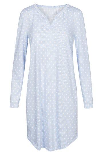 Bigshirt lang im Mustermix Punkte Streifen Nadelzug verspielt 100% Baumwolle