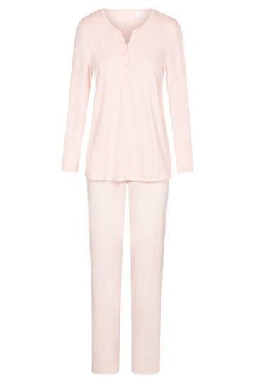 Pyjama mit Punktedruck dezent pastellfarben 100% Baumwolle