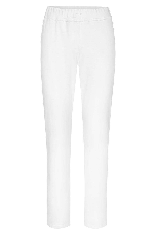 Pyjamahose lang mit dezenter Spitzenborte - 11710 - 38