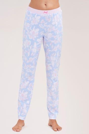 Basic Pyjamahose mit Zierschleife