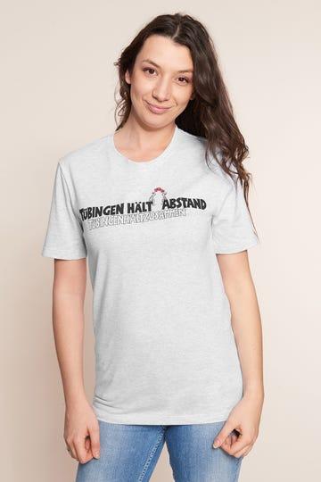 """Charity-Shirt, Limitiertes T-Shirt mit Motivdruck - """"Tübingen hält Abstand"""""""